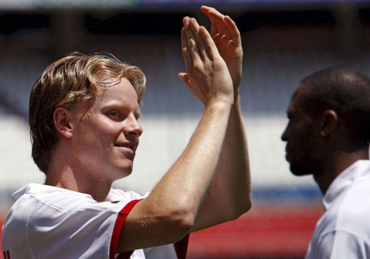 De Mul verliet Ajax vorig jaar om in een van de sterkste competities ter wereld te spelen - alleen speelde hij bijna niet. Foto EPA/Julio Munoz Beeld