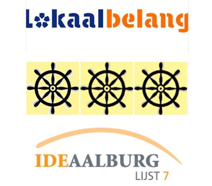 De logo's van de partijen die fuseren tot Altena Lokaal.