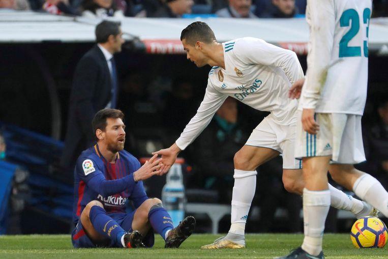 Lionel Messi en Cristiano Ronaldo. Beeld epa