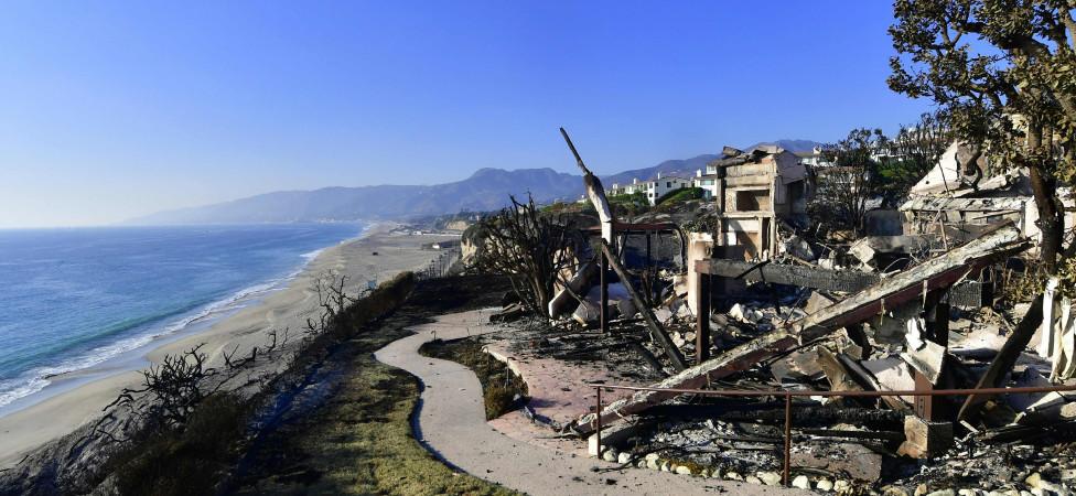 De natuurbranden in Californië treffen ook de miljonairs-enclaves