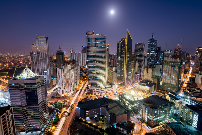 Makati City skyline.