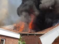 Drone ingezet bij grote schuurbrand Geesteren