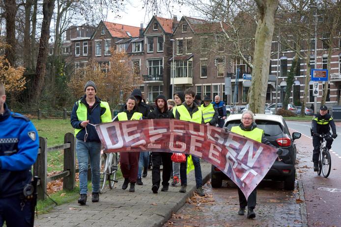 De Gele Hesjes in Arnhem.