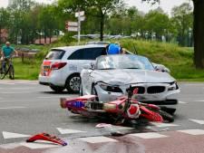 Motorrijder gewond na aanrijding in Fleringen