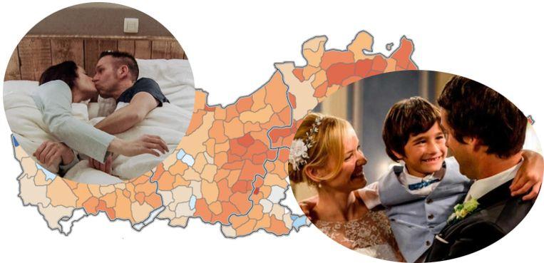 Fans van romantiek in Vlaanderen zijn vooral in Limburg goed vertegenwoordigd.