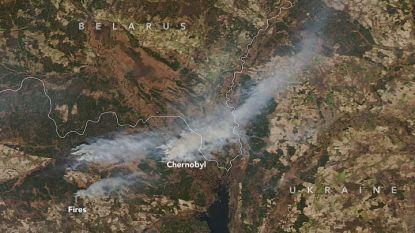 Grote bosbranden vlakbij Tsjernobyl zelfs vanuit de ruimte zichtbaar