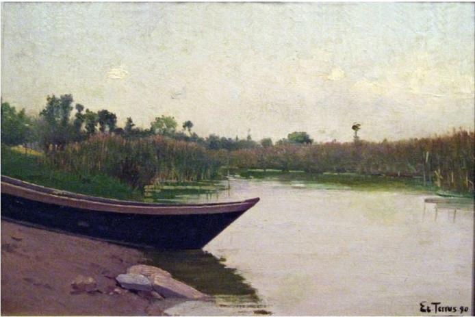 Een schilderij van Etiènne Terrus