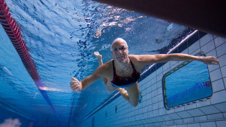 Voormalig internationaal topzwemster Marleen Veldhuis. Beeld anp
