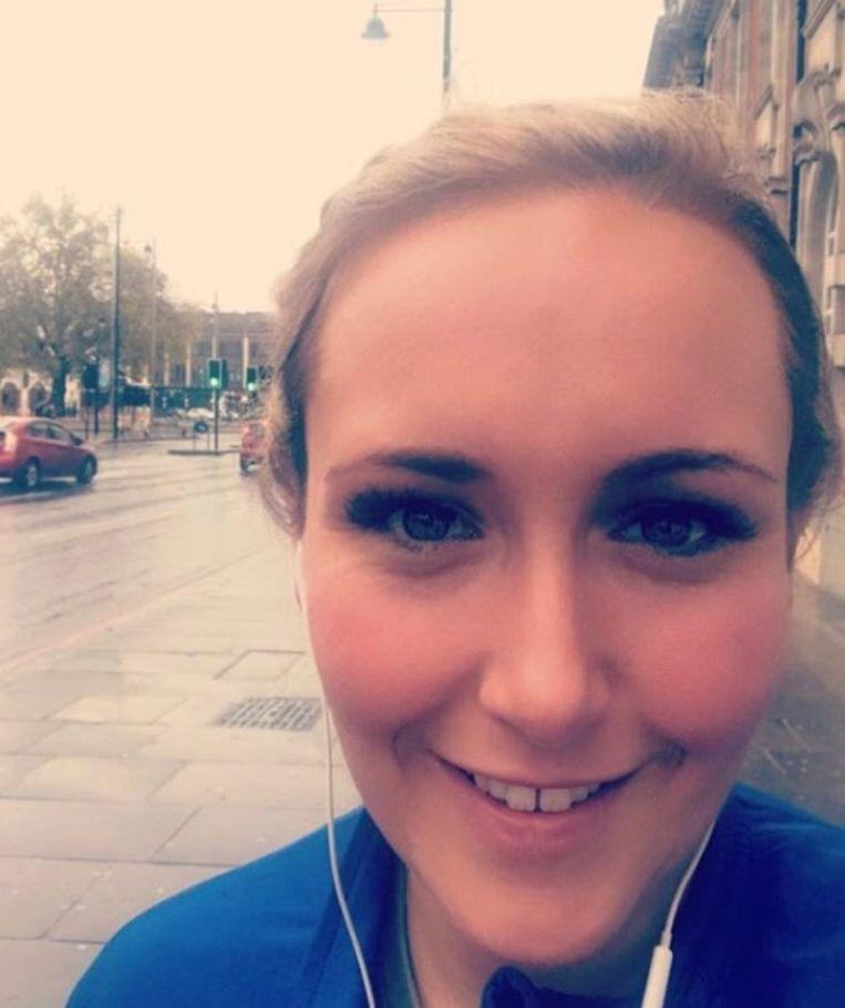 Claire verkent het parcours in Londen.