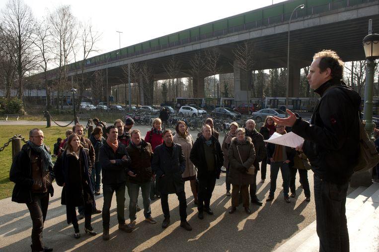 Viadukaduk hield samen met tal van politici een protestwandeling in Gent.