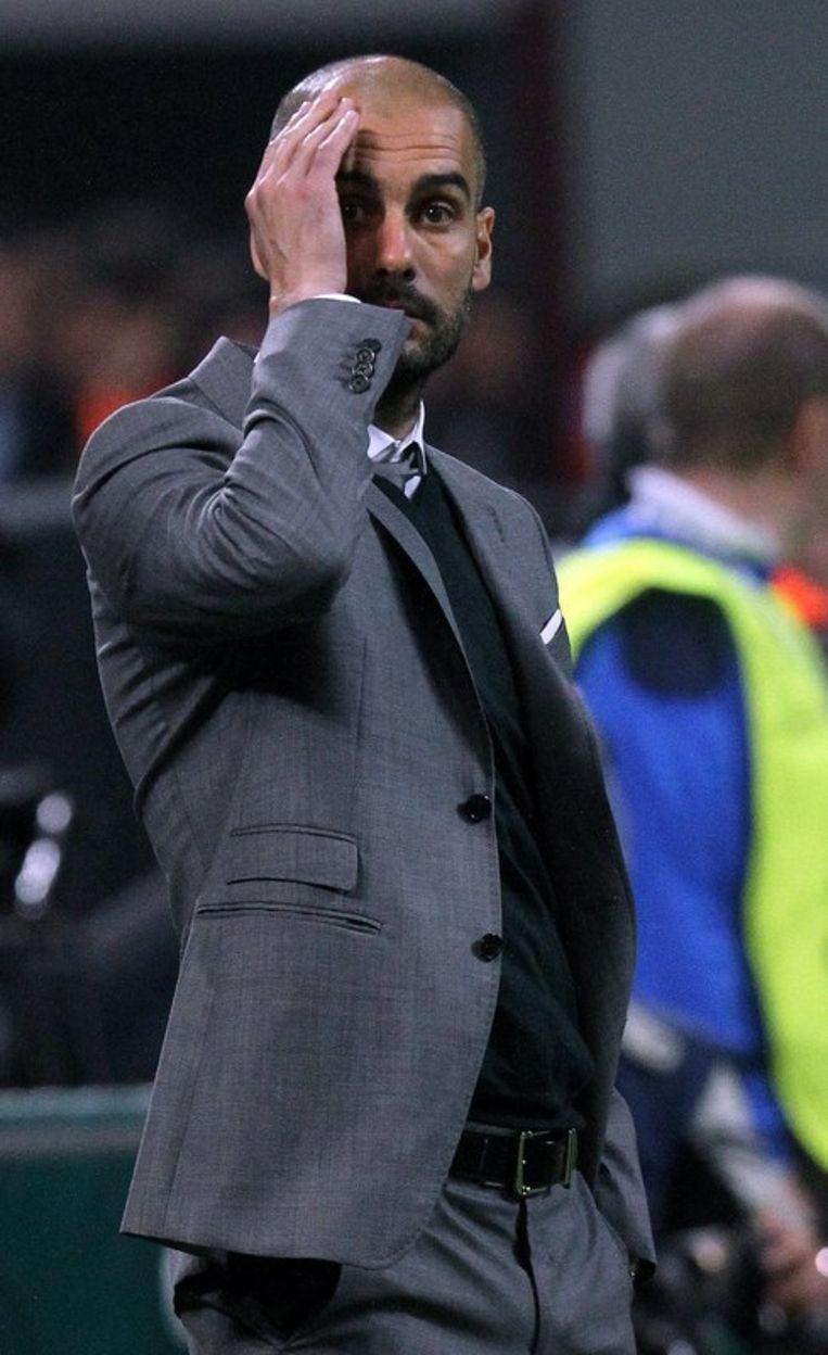 Voor Barça-coach Pep Guardiola, de successen gewend, was het even raar opkijken.