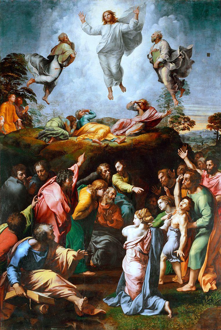 Rafaël, De transfiguratie, olie op hout, 1519-1520, Vaticaans Museum.  Beeld Getty