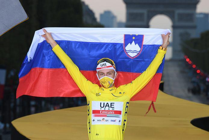 Tadej Pogacar won de Tour van 2020.