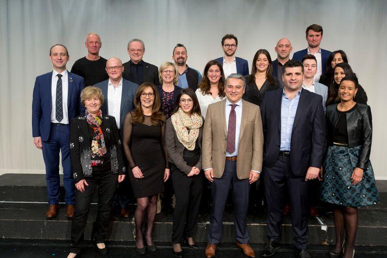 Een deel gemeenteraadsleden bij de installatie van de gemeenteraad  in januari 2019.