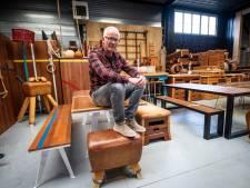 Gert (54) maakt meubilair van oude turntoestellen