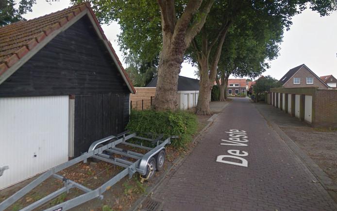 De straat waar het slachtoffer mishandeld werd.
