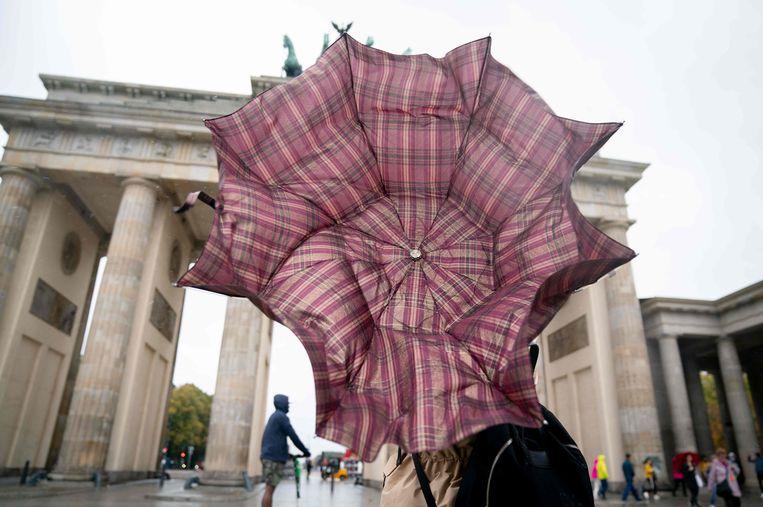 Vechten tegen de wind in Berlijn.