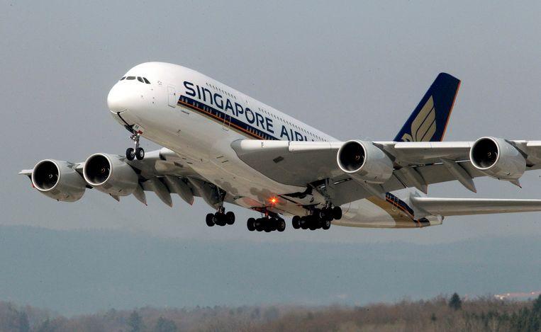 Een A380 van Singapore Airlines