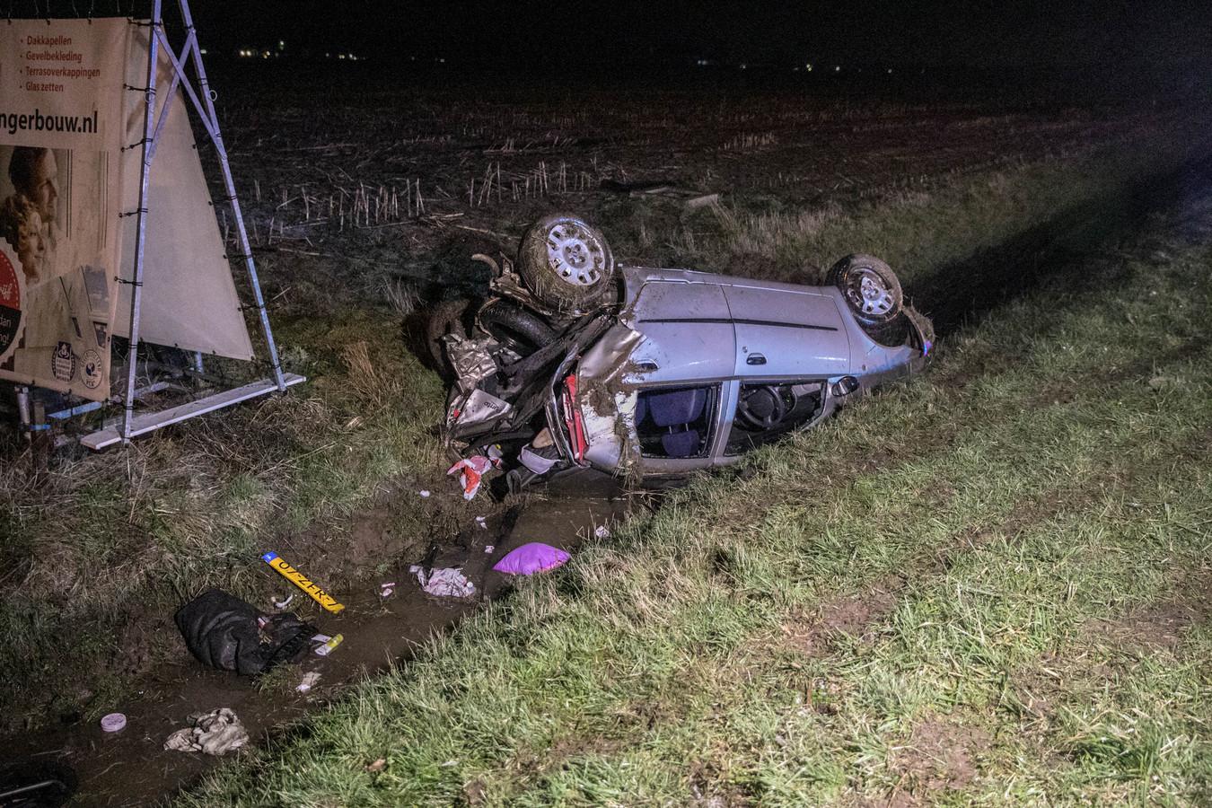 Plek van het ongeval ter hoogte van Duiven.