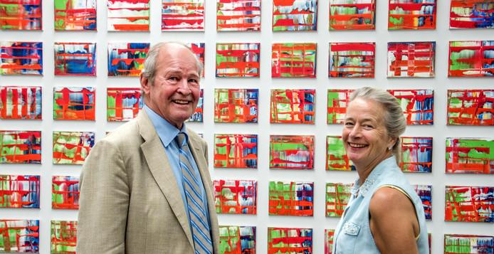 Jos de Pont en zijn vrouw Joy voor Abstraktes Bild van Gerhard Richter.
