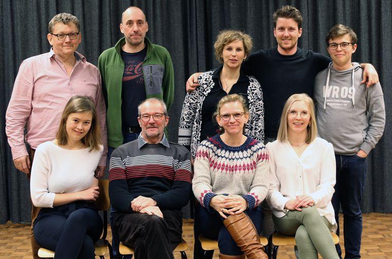 Toneelgroep Touwel uit de Grobbendonkse deelgemeente Bouwel stoomt zich klaar voor hun voorstelling Toi Toi