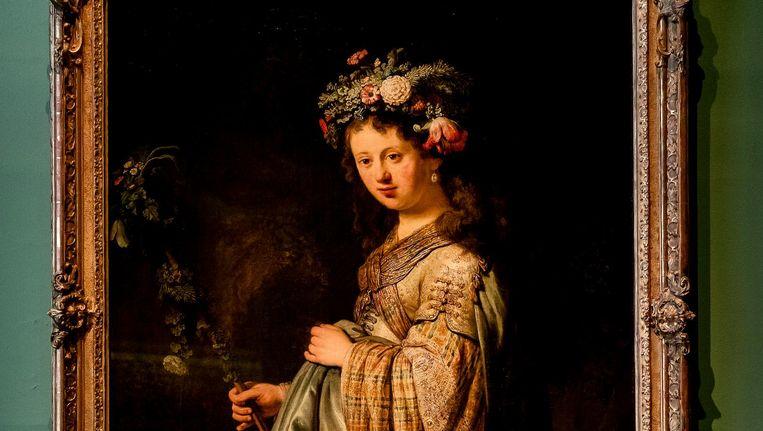Het kunstwerk Flora van Rembrandt wordt speciaal voor de tentoonstelling Oogappels Van De Tsaren in de Hermitage naar Amsterdam gehaald. Beeld anp