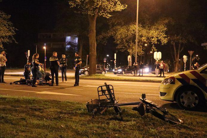 De fietsster raakte zwaargewond bij het ongeluk.