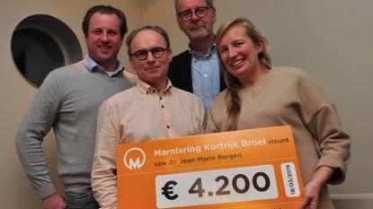 Marnixring schenkt 4.200 euro aan kankerkunde  in AZ Groeninge