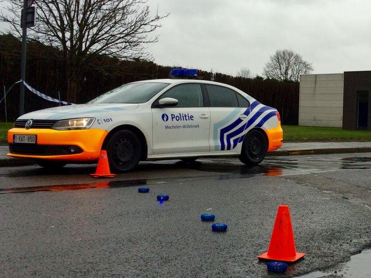 De politie van Mechelen-Willebroek kwam ter plaatse