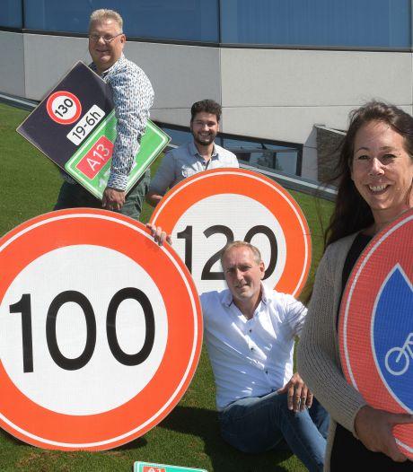 'Smakelijk' verkeersbord van rijstvlies is klaar voor Hollandse wegen: 'Vergis je niet, het is een grote markt'