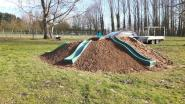 Glijheuvel en wilgenhut in tuin basisschool Sint-Maria-Latem