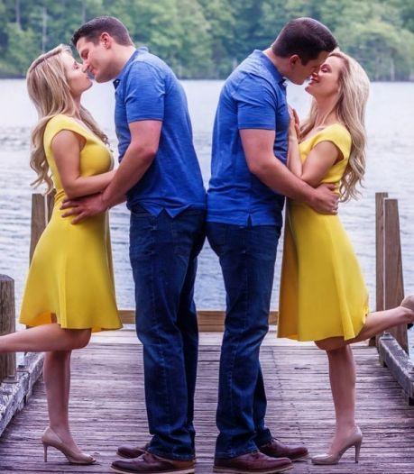 Des jumelles mariées à des jumeaux attendent leur premier enfant en même temps