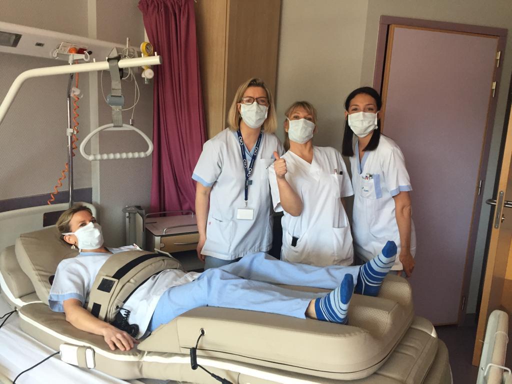 In Belgische ziekenhuizen wordt al gebruikgemaakt van de geschonken massagematrassen