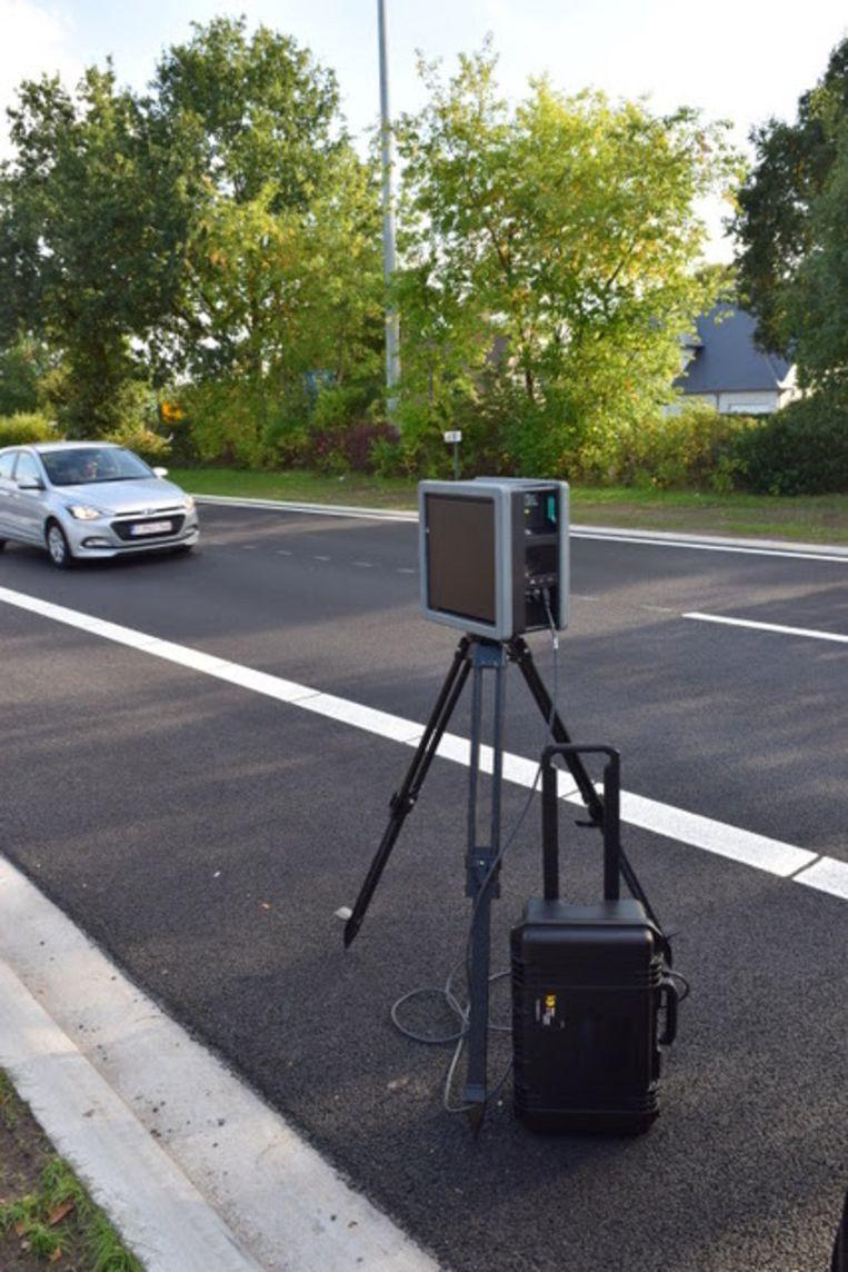 De speed pedelec werd geflitst door een camera van het type RT4, zoals hier te zien is.