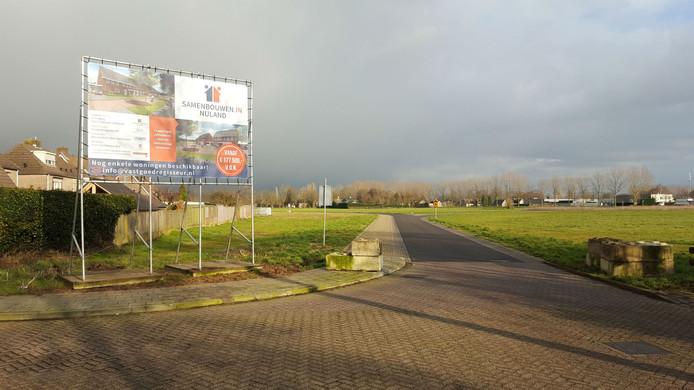 Op het stuk links komen de woningen van het CPO-project van Van Nistelrooij.