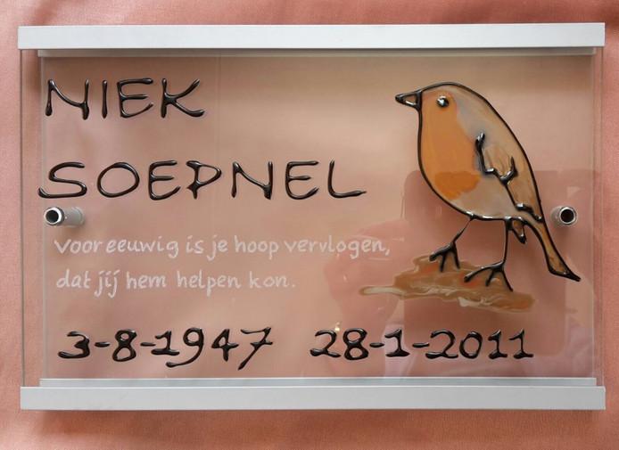 Naamplaatje van Niek Soepnel