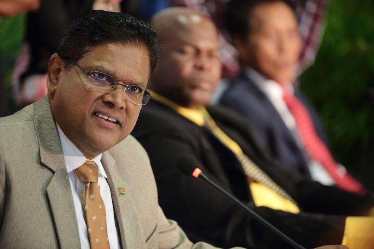 Chan Santokhi, de beoogde nieuwe president van Suriname, is in principe bereid Bouterse uit te leveren aan Nederland.  Beeld ANP