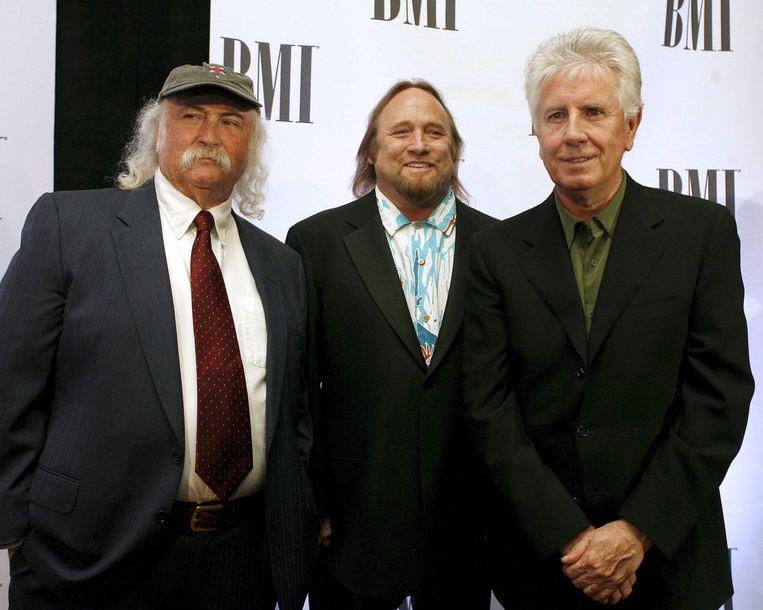 David Crosby, Stephen Stills en Graham Nash. Beeld ANP