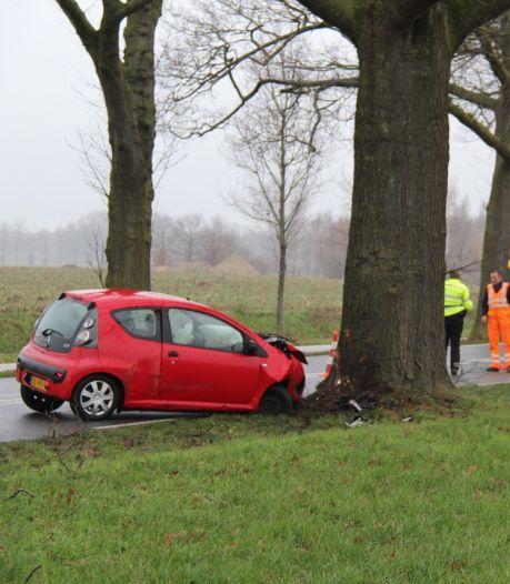 Man gewond bij botsing tegen boom in Hengelo
