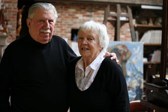 Gust Dierikx met zijn vrouw Francine, die vorig jaar overleed.