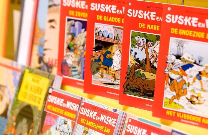 De populaire stripfiguren Suske en Wiske zijn precies 75 jaar oud.