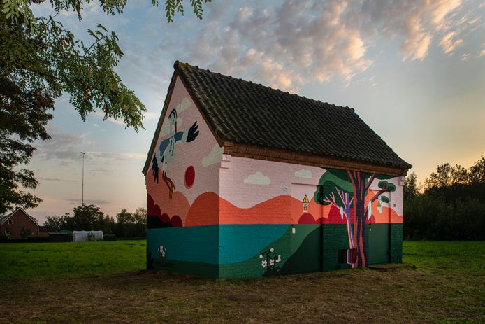 Een muurschildering van de Blind Walls Gallery aan de Moerdijksepostbaan in De Rith in Breda.