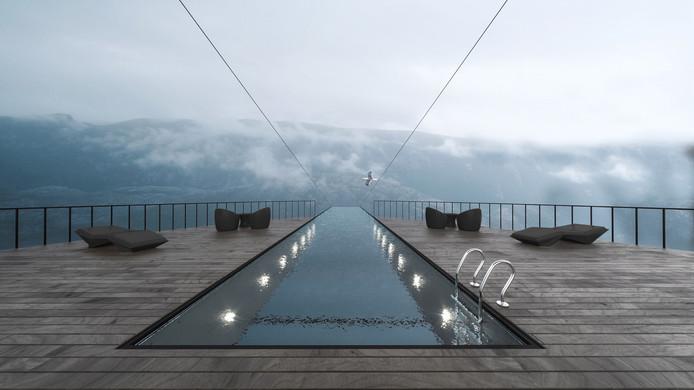 Zwemmen tussen hemel en aarde.