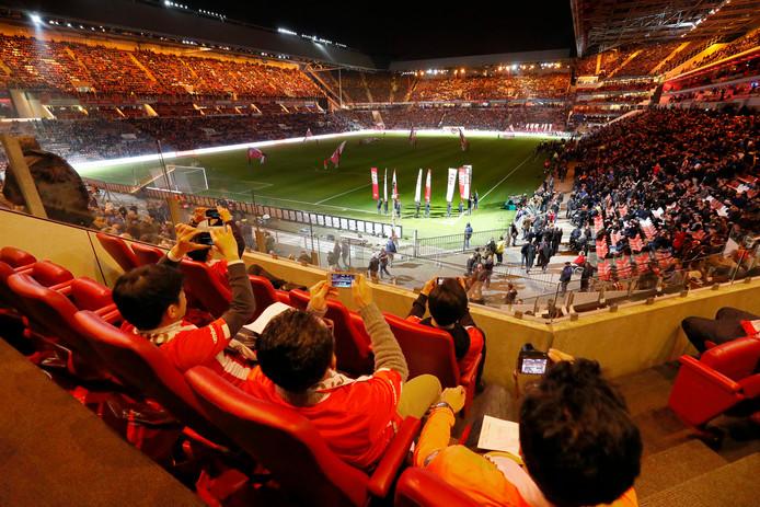 Japanners komen naar de lichtshow kijken bij PSV.