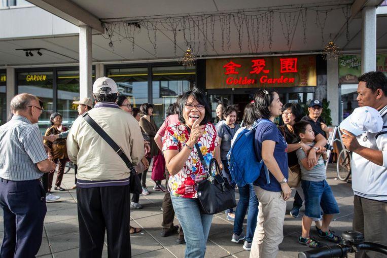 Door een deal met de Chinese reisorganisatie GEG Travel worden dagelijks drommen toeristen afgezet bij Chinees-Indisch restaurant Golden Garden Beeld Dingena Mol