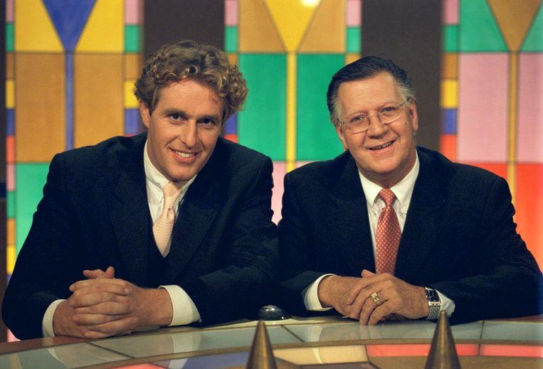 Edwin Smulders en Joop van Tellingen in 2000 Beeld ANP