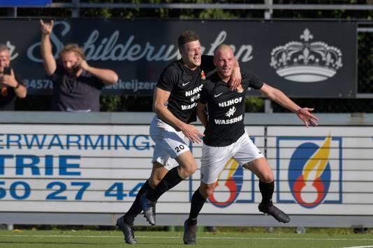 Kozakken Boys-HHC Hardenberg: doelpunt Nick de Bondt.