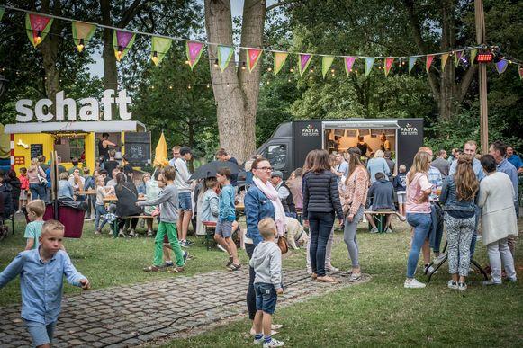 Gezellige drukte op het HAP Foodtruck Festival.
