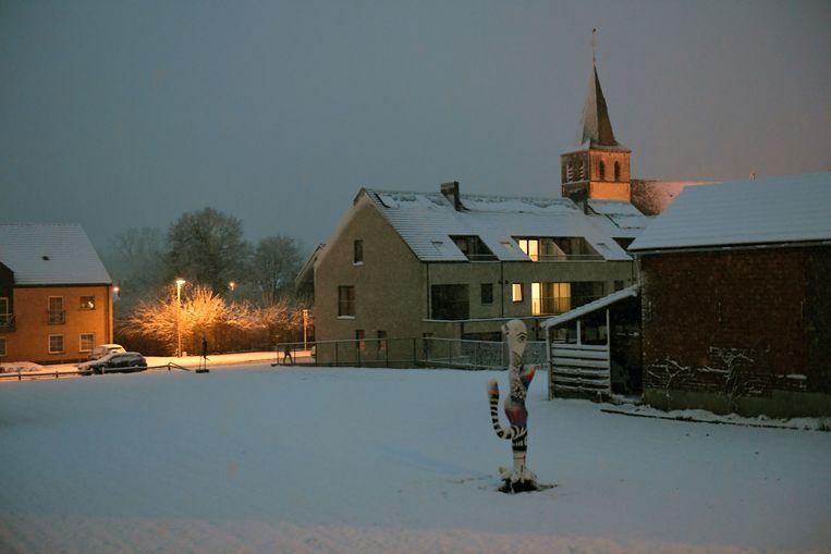 Holsbeek in de vroege ochtend.