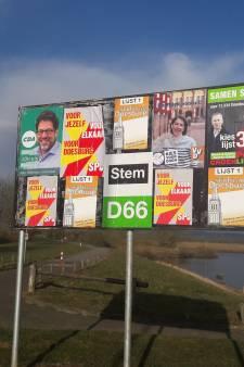 Gekissebis om de spandoeken van Stadspartij Doesburg